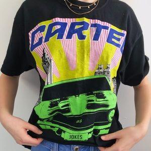 """Bold car """"Cartel"""" graphic tshirt"""